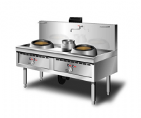 GAS WOK 2 BURNER WITH BLOWER