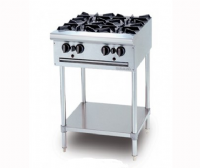 GAS OPEN 4 BURNER  (kitchen foot)